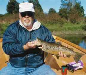 Angling report March 2001 Kingfisher Lodge fly fishing reports Lake Brunner