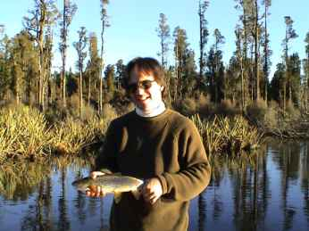 Angling report July 2002 Kingfisher Lodge fly fishing reports Lake Brunner West Coast New Zealand