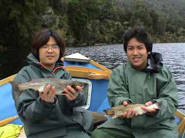 Angling report Sept 2002 Kingfisher Lodge fly fishing reports Lake Brunner